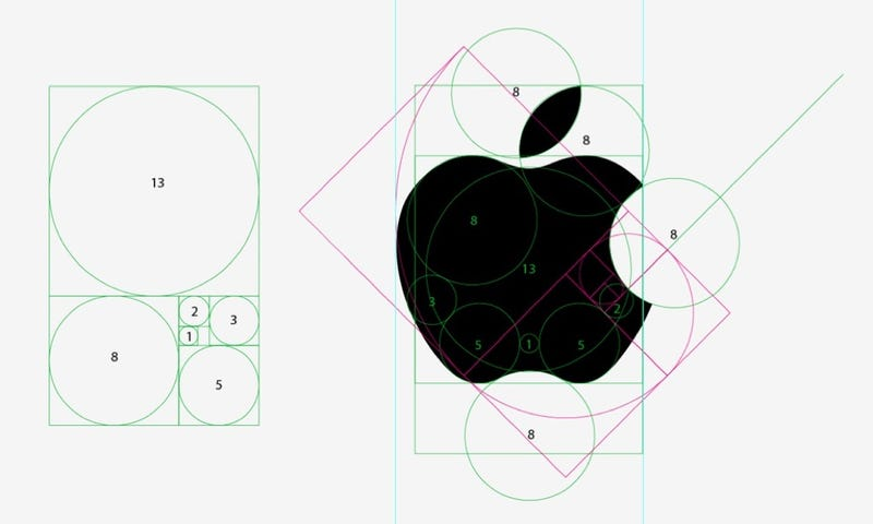 Illustration for article titled No, el logo de Apple no tiene proporción áurea
