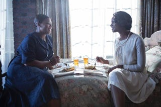 Queen Latifah and Tika Sumpter in Bessie, which premieres May 16, 2015, on HBO Frank Masi/HBO