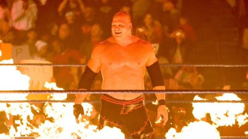 Glenn Jacobs in the unmasked version of the Kane gimmick.
