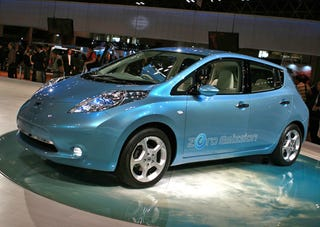 Illustration for article titled Nissan Leaf: Priced At $32,780 Or $25,280 With Gov't Electric Car Welfare Check