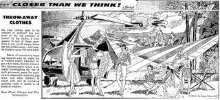 Illustration for article titled Closer Than We Think! Throw-Away Clothes (1959)