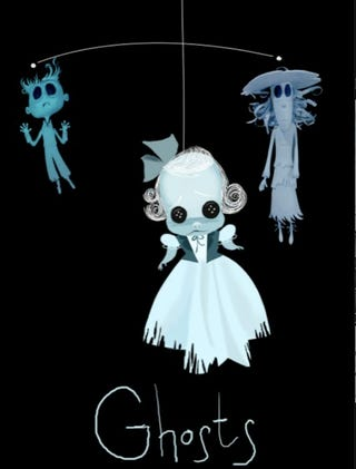Illustration for article titled Get Your Own Coraline Button-Eyed Ghost Children Mobile