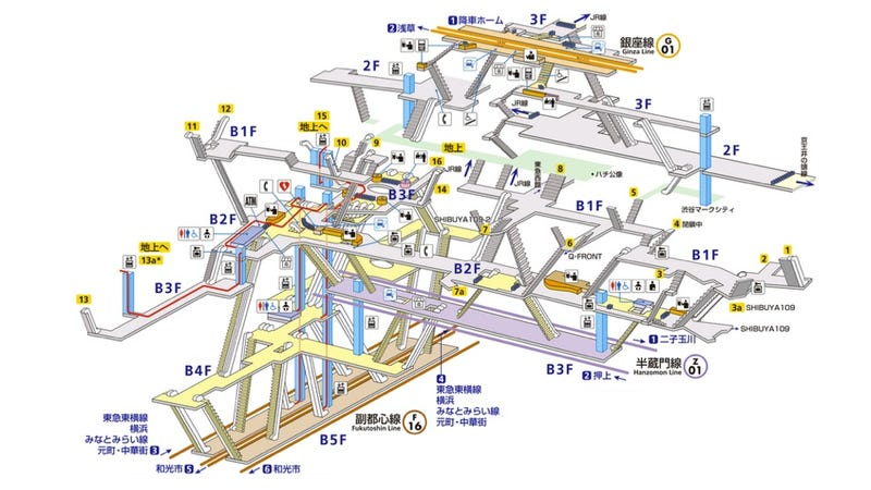 Illustration for article titled Japanese Subway Stations Totally Look Like Role-Playing Game Dungeons