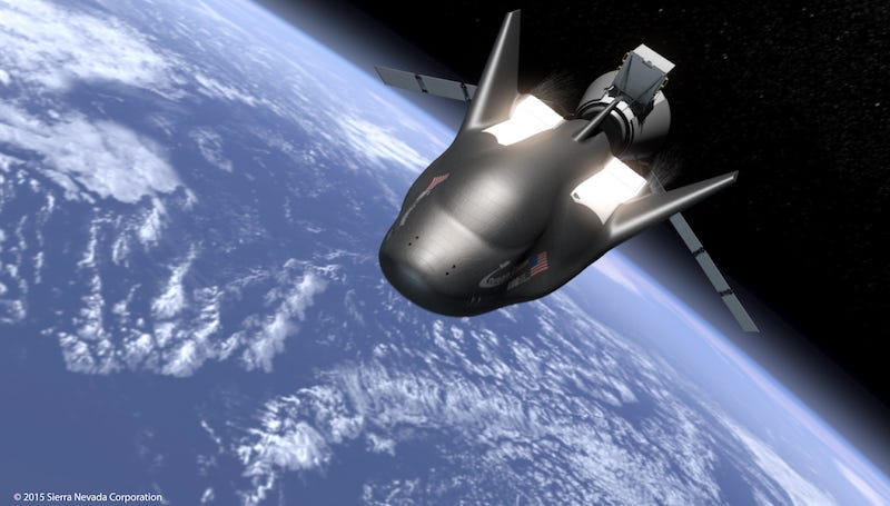 Rendering of Dream Chaser in orbit (Image: Sierra Nevada)