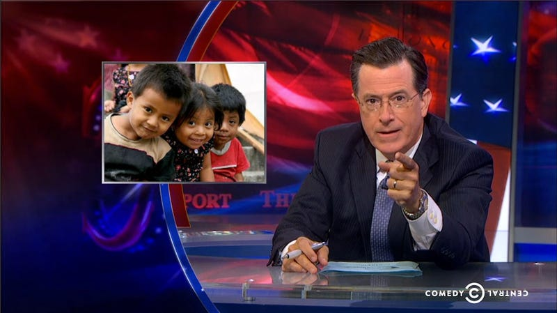 Illustration for article titled Colbert Perfectly Calls Out Conservatives' Hypocrisy on Child Refugees