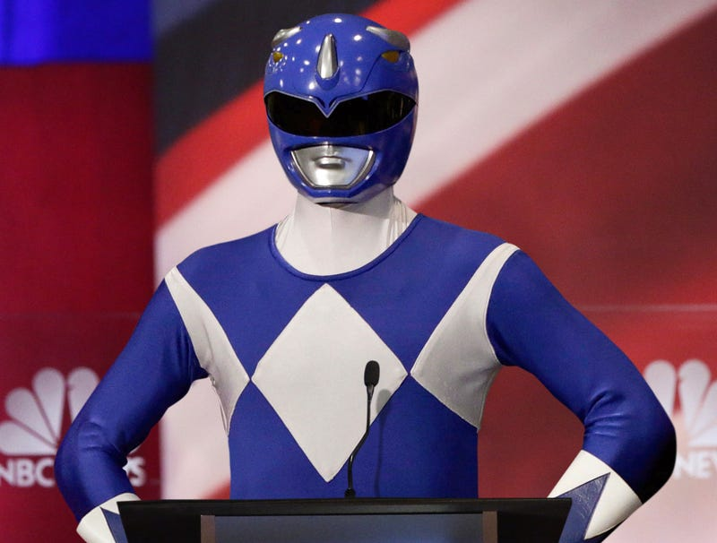 Illustration for article titled Tim Ryan Attempting To Stand Out From Other Candidates On Debate Stage By Wearing Blue Power Ranger Costume