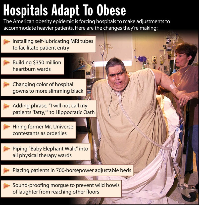 Illustration for article titled Hospitals Adapt To Obese