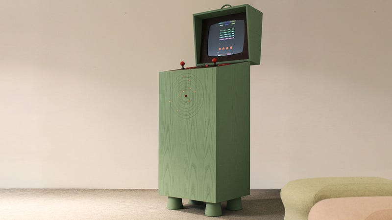 Illustration for article titled A Retro-Futuristic Arcade Cabinet That Plays Equally Retro Games