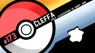 Illustration for article titled Cut n' Craft Cleffa! Pokemon One a Day!
