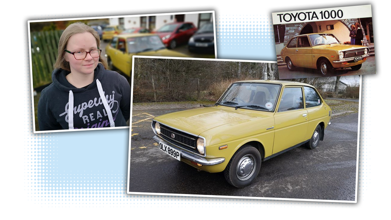 Illustration for article titled This Lovely Old Toyota Was Restored By a Kid Starting When She Was 12