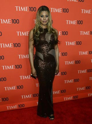 Laverne Cox attends the Time 100 Gala celebrating the Time 100 issue of the Most Influential People in the World at Jazz at Lincoln Center April 29, 2014, in New York City.TIMOTHY A. CLARY/AFP/Getty Images