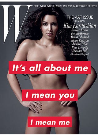 Illustration for article titled Kim Kardashian Is Naked On The Cover Of W