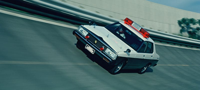 Vintage publicity photo courtesy of Nissan. Dig that sweet 1980 C210 Skyline 2000 Turbo.