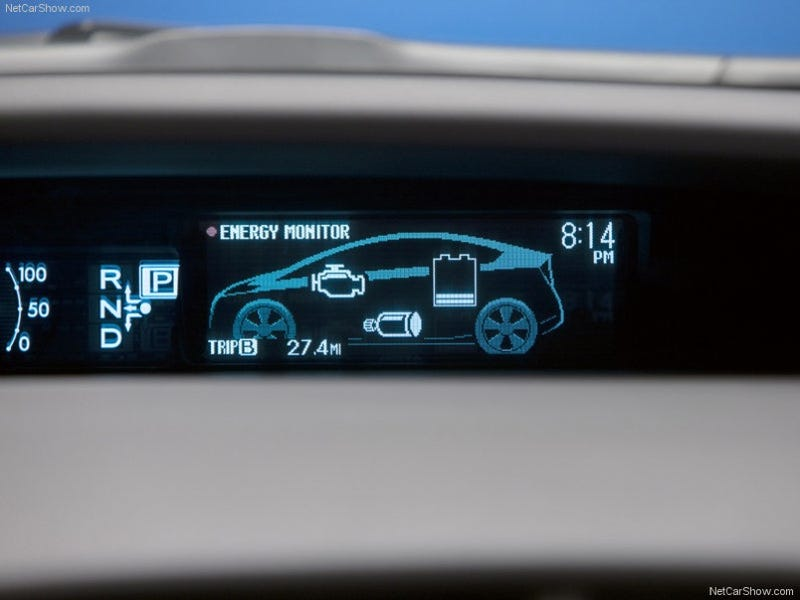 Illustration for article titled New Prius Hybrid Dashboard Photos