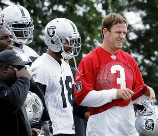 Illustration for article titled Because Of The New CBA, Carson Palmer Can't Get Enough Practice Time