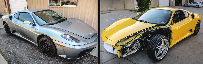 Illustration for article titled Here's How You Can Combine Two Broken F430s Into One Amazing Ferrari