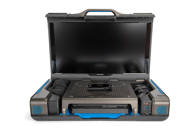 Illustration for article titled It's A Video Game Streaming Station In A Suitcase