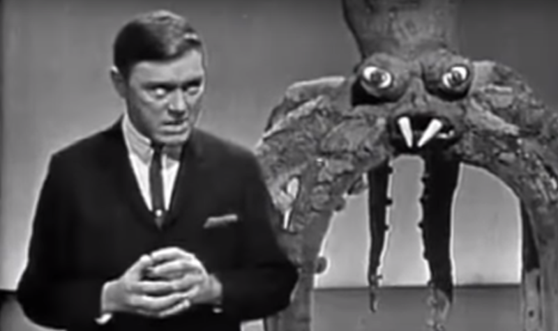 Bobby PIckett, performer of Monster Mash and Monsters' Holiday, as he appeared on TV in 1964 (YouTube)