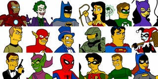 Illustration for article titled Simpsonized Superheroes Break All Our Fetishmeters