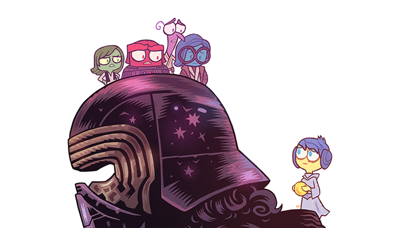 Illustration for article titled If Kylo Ren Was an Inside Out Character, It Would Look a Little Something Like This