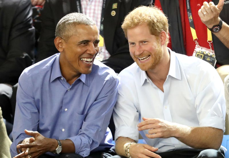 Former President Barack Obama and Prince Harry on day 7 of the Invictus Games 2017 on Sept. 29, 2017, in Toronto (Chris Jackson/Getty Images for the Invictus Games Foundation)