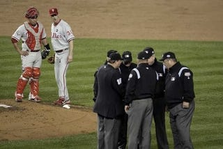Illustration for article titled The Top Story This Morning: Holy Crap, The Umps Got One Right