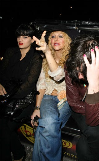 Illustration for article titled Courtney Love, Friend Continue Crazy-Eye Look Across The Atlantic