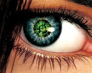 Illustration for article titled Eyeball-Implanted Camera Patent May Bring Electronic Vision, One Day