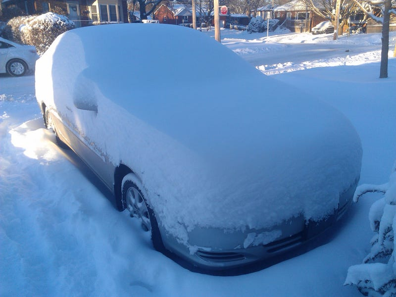 Illustration for article titled 2004 Camry, Snow mountain edition.