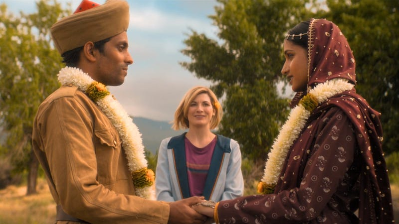 "The Doctor (Jodie Whittaker) oversees a wedding in ""Demons of the Punjab."""