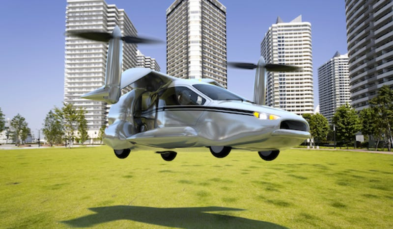 Illustration for article titled Crazy New Flying Car Is A Vertical-Takeoff 200 MPH Plug-In Hybrid