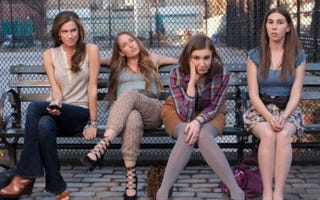 """Cast of the HBO series Girls, which some have called the latest in """"hipster racism."""" (HBO)"""