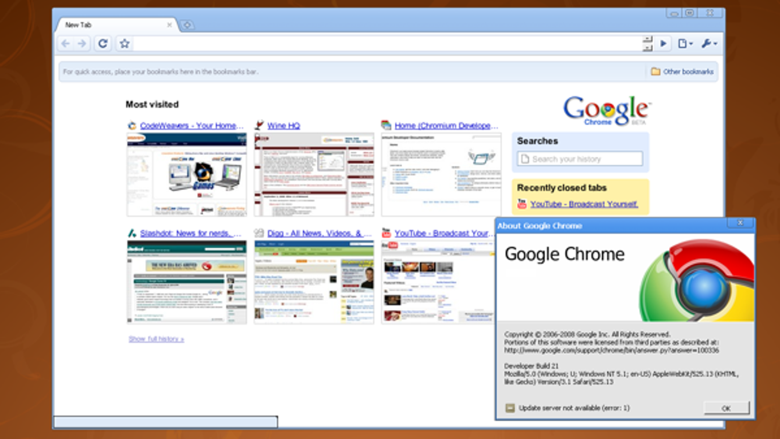 New Google Chrome Beta Version Available (Kinda)