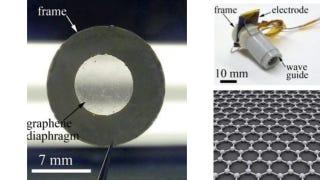Illustration for article titled Científicos crean los primeros auriculares de grafeno, y el sonido es increíble