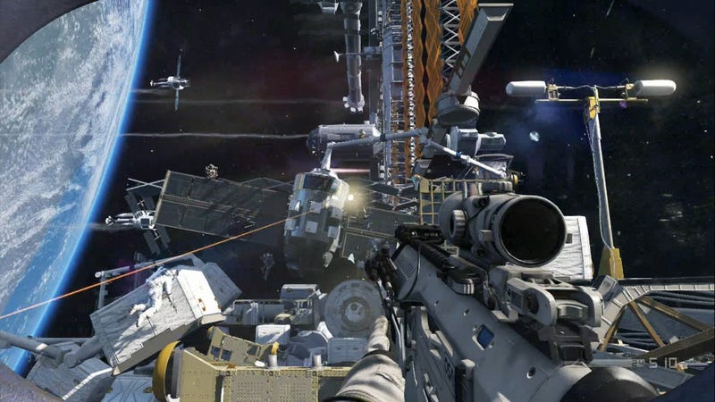 Call of Duty Ghosts went to space 3 years ago.