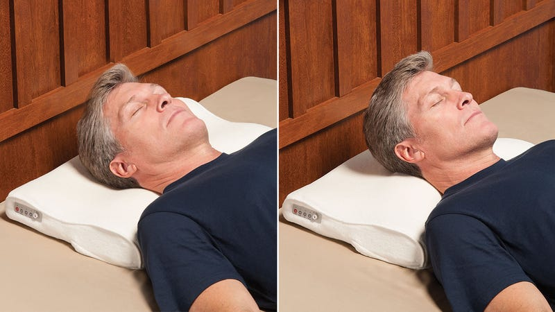 Illustration for article titled Snore Sensing Pillow Automatically Nudges You To Roll Over