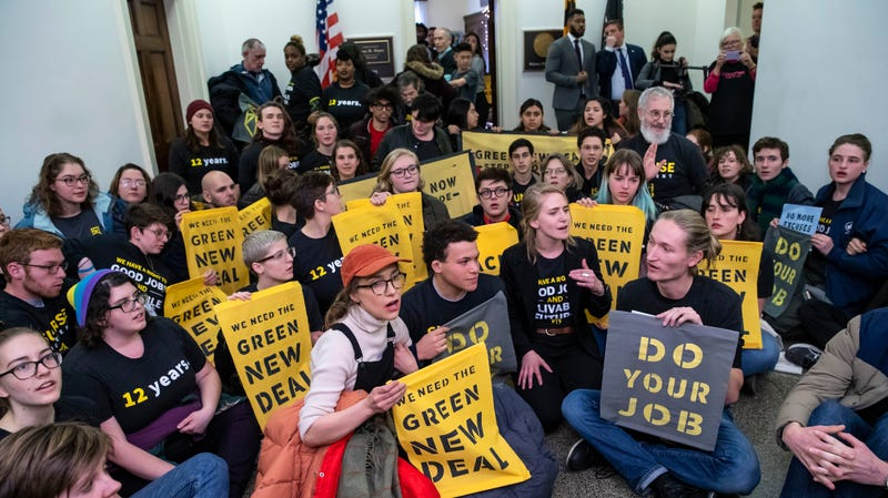 Activists occupy the office of Rep. Steny Hoyer to pressure for climate action.