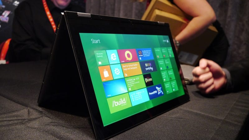 Illustration for article titled Lenovo Yoga: This Windows 8 Ultrabook Moonlights as a Tablet