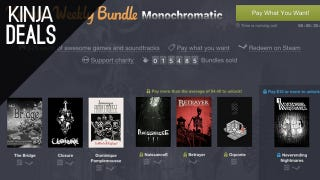 Illustration for article titled Humble Monochromatic Bundle, $8 Gaming Mouse, and More Deals