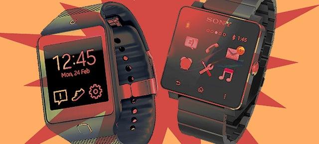Sony SmartWatch v  Galaxy Gear 2: Which Smartwatch Screen Is