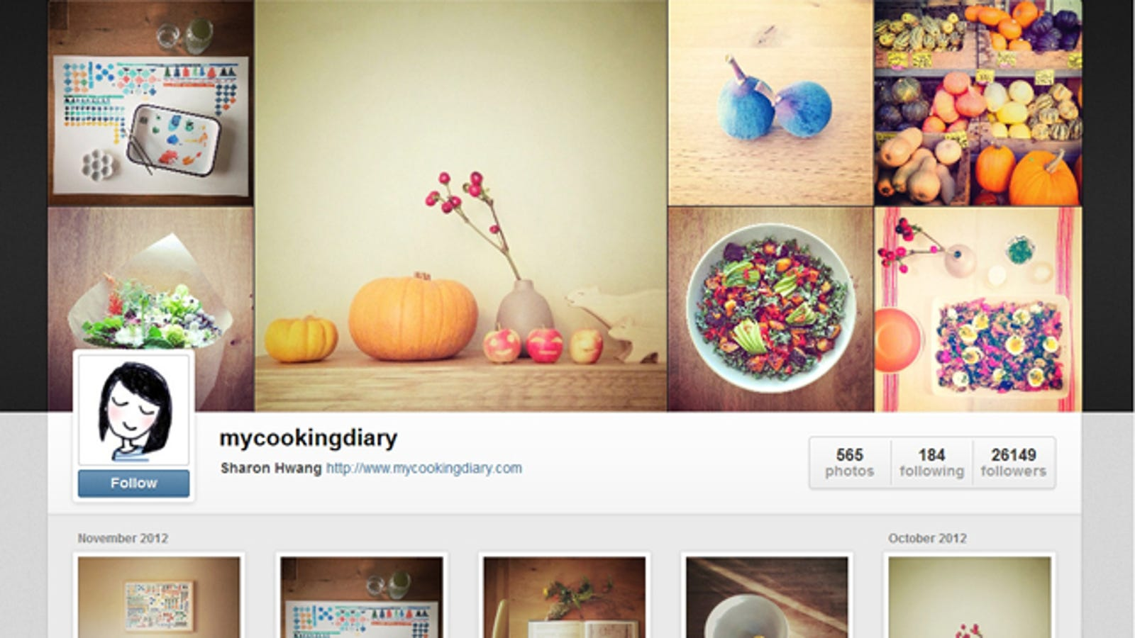 how to get instagram web profile