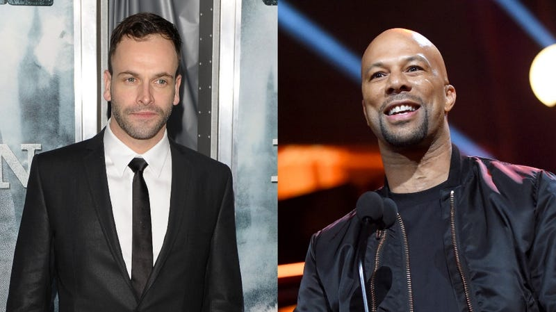 From left: Jonny Lee Miller and Common, who are staring in the upcoming Nine Lives film adaptation.