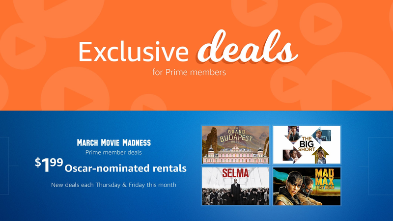 $2 Oscar-Nominated Movie Rentals | Amazon | Prime members only