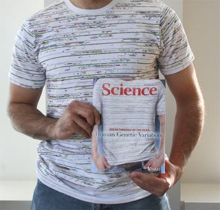 Illustration for article titled Human Genome Shirt Gives You Nice AAAS