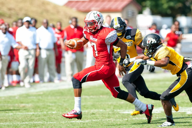 Rudy johnson quarterback for d ii winston salem state was reportedly