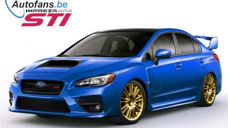 Illustration for article titled The 2015 Subaru WRX STI Better Look Exactly Like This Render
