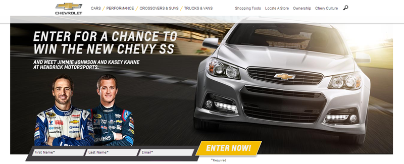 Illustration for article titled Chance to win a Chevy SS? Why yes I would thanks!