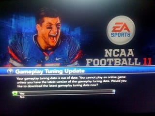Illustration for article titled First Tuning Update Arrives For NCAA Football 11