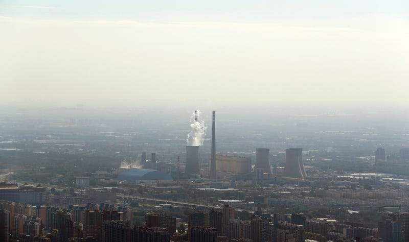 A coal-fired power plant in Beijing (Image: AP Photo/Andy Wong)