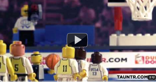 Illustration for article titled Spectacular Lego Reenactments of March Madness Classics